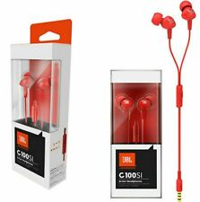 NEW JBL C100SI by HARMAN In-ear Headphone with MIC iPhone Android Red