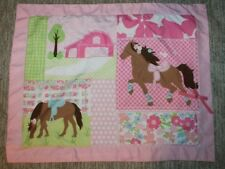 Circo Pretty Horses Barn, Pink and Polka Dots One (1) Standard Pillow Sham