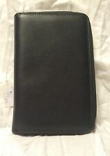 NEW Black Leather US PASSPORT COVER Organizer Travel Wallet ID Holder Money Case