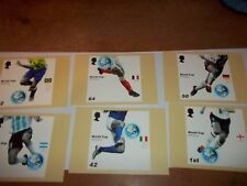 World Cup Winners 6 June 2006 PHQ 287 set Royal Mail Stamp Card Series MINT