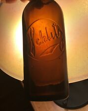 Unusual Schlitz Embossed Beer Bottle Early 1900s OBCo Advertising