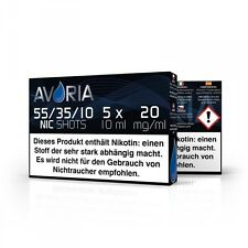 Avoria Nikotin Shots/Nic Shots 55/35/10 5x10ml 20mg/ml
