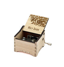 Personalized Hand Crank Wooden Music Box (The Beatles - Hey Jude)