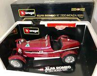 Burago cod.3014 Alfa Romeo 8c 2300 Monza (1931) bordeaux  scala 1/18