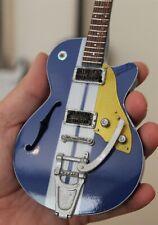 EDDIE VEDDER - Duesenberg Blue TVDMC Custom 1:4 Scale Replica Guitar ~New~