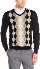 J.Lindeberg Argyle Wool Sweater—XL—M LIAM TRUE MERINO—GOLF—NEW IN PLASTIC W/ TAG