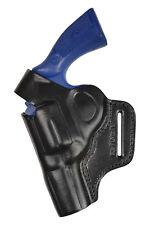 R3li cuero 2,5 pulgadas de ejecución revolver holster para dan Wesson .357 357 zurdo