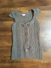 Size 6 beige River Island capped sleeve cardigan