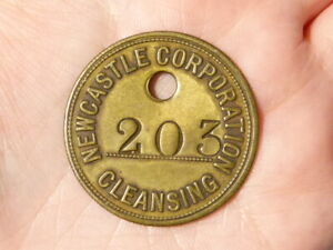 NEWCASTLE CORPORATION CLEANSING Tally Token Check 203 TRAMS ?  #R28