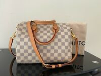 AUTHENTIC Louis Vuitton DAMIER AZUR Speedy 25 Bandouliere Shoulder Bag