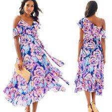 NWT Lilly Pulitzer Marianna Wrap Dress in Nauti Navy Boho Bateau