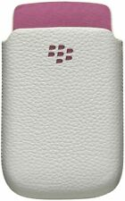 BlackBerry Torch 9800 Leather Pocket Case White with Pink ACC-32840-201