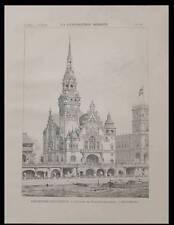 PARIS EXPOSITION UNIVERSELLE, ALLEMAGNE - PLANCHE 1900 - ARCHITECTURE