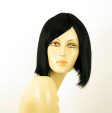 perruque femme 100% cheveux naturel noir ref MYLENE 1b