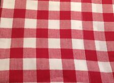 Red Gingham Check Valance Lined Kitchen 182x41cm New.