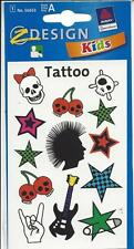Mehrfarbiges Nail-Art Tattoo