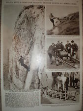 Photo article Eastbourne police practice cliff rescue Beachy Head 1961