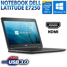 "PC COMPUTER NOTEBOOK PORTATILE 12.5"" DELL E7250 CORE i5-5300U 8GB SSD 256GB HDMI"