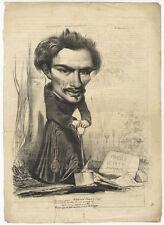 Karikatur/Satire: PANTHÉON CHARIVARIQUE. - Lithographie v. Alphonse Karr, c 1838