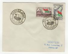 République Malgache 2 timbres sur lettre FDC 1959 tampon Tananarive /L548