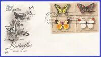 USA5 #1712-15 U/A ARTCRAFT FDC BL4  Butterflies