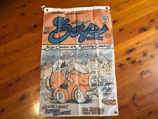 Mr natural banner   biker print Harley Davidson poster mancave pool room flag