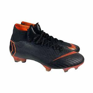 Nike Mercurial Superfly 6 Elite FG Soccer Cleats Black Orange AH7365-081 Mens 6