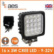 NEW 48W High Intensity Flood Beam LED Work Light - 16 x 3W LED 9-32V