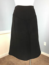 TSE 100% Cashmere Black A Line Skirt EUC Knee Length Career Cocktail XS S