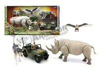 JUMANJI ULTIMATE Collection RHINO JEEP WOLF + 1 Action Fig LANARD Animal 2019