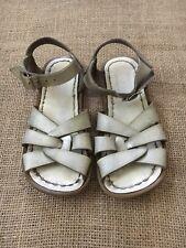 Salt Water Toddler Girls Metallic Silver Sandals Size 10