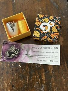 Ohm beads Wings Of Protection. Sterling Silver Charm 115/222. In Box With Cert.