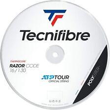 Tecnifibre Razor Code Tennis String - 1.30mm/16G - 200m Reel - Blue
