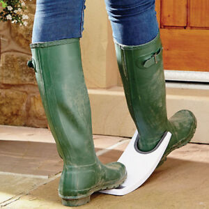 White Rubber Grip Cowboy Rubber Boots Shoe Removal Puller Jack for Women Men