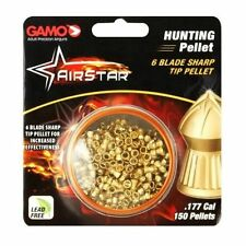 Gamo Airstar 6 Blade Sharp TipHunt Pellets .177 Caliber 4.3 gr. # 632272454 New
