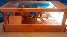 Tortoise table, tortoise home vivarium 32in x 16 in , full set up best on ebay