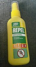 Boots Repel Original 2 Insect/Strength/Rating/UK/Europe/Repellent/Skin/100ml/NEW