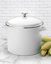 Cuisinart stock pot Enamel stockpot with Cover 16 Quart  White induction