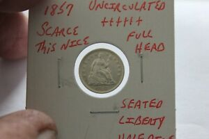 1857   FULL HEAD   UNC+++  SEATED LIBERTY HALF DIME