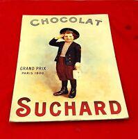 VINTAGE CHOCOLAT SUCHARD GRAND PRIX PARIS 1900 ADV. PAPER SIGN BOARD