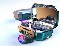 Cascos Auriculares Bluetooth Inalámbricos Deportivos Pantalla LED Control Táctil