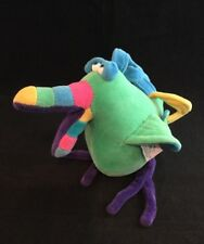 RARE Plush Tropical BIRD Funny Friends Stuffed Soft Sculpture Jennifer Mazur