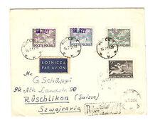 Polen Briefmarken Brief von 1951 Groszy Aufdruck Mi 483, 636-638