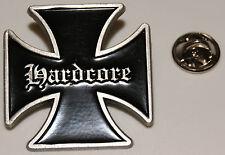 HARDCORE Eisernes Kreuz Iron Cross Biker l Anstecker l Abzeichen l Pin 345