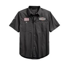 Harley-Davidson#1 Skull Patch Slim Fit Hemd Gr. XL - Grau, Herren kurzarm