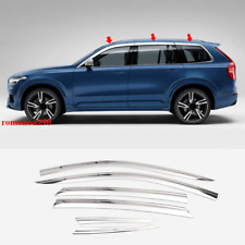 For Volvo XC90 2016-20 Chrome Side Door Sun Guard Vent Shade Window Visor Cover