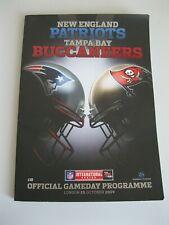 New England Patriots - Tampa Bay Buccaneers NFL Gameday programme Wembley 2009