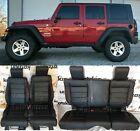 2008 2009 2010 Jeep Wrangler Jk Leather Seat Covers Kit Black Salsa Red 4 Door
