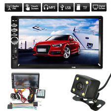 """2 DIN 7"""" Double Head Unit Car MP5 Stereo Player bluetooth FM Touch Screen Camera"""