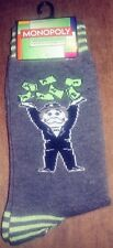 MONOPOLY MENS NOVELTY CREW SOCKS CHARCOAL GREY SIZE 6-12 WE COMBINE SHIPPING